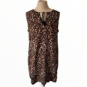Beach Lunch Lounge Leopard Print Cover Up Dress